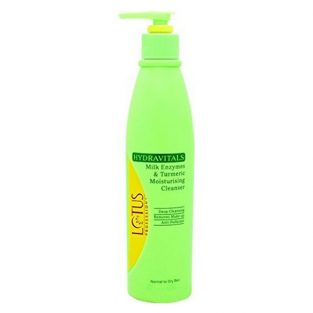 Lotus Professional Hydravitals Milk Enzymes and Turmeric Moisturising Cleanser,250ml
