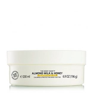 The Body Shop Almond Milk and Honey Soothing and Restoring Body Butter, 200ml