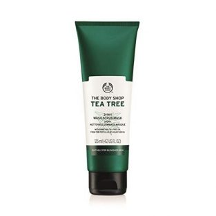 The Body Shop Tea Tree 3 in 1 Wash Scrub Mask, 125ml