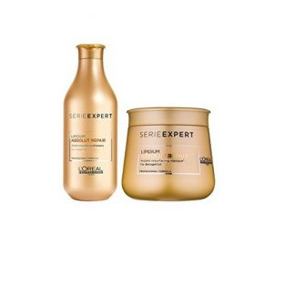 L'Oreal Serie Expert Lipidium Absolut Repair Shampoo and Masque (300 + 250 mL)