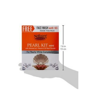 Nature's Essence Pearl Facial Kit 52G, Free Face Wash of 65ml