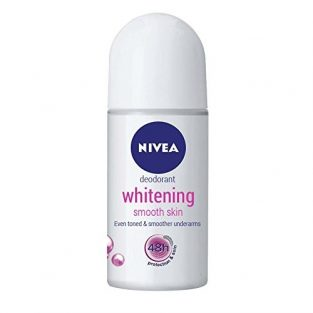 Nivea Whitening Smooth Skin Deodorant Roll-On – 25 ml (Pack of 2)