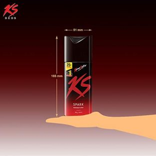 KamaSutra Spark Deodorant for Men | Long Lasting Spicy & Sizzling Fragrance | Suitable for Sensitive Skin | Deodorant for Gym & Party Enthusiasts | Energetic & Refreshing Body Spray | Aerosol Series, 150 ml
